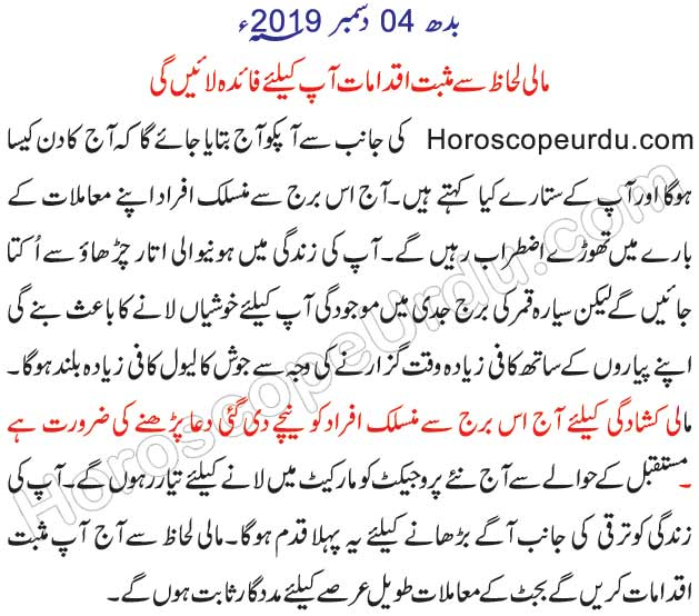 horoscope in urdu 12 march