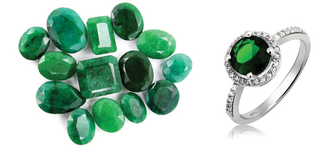certified emerald in or green stunning silver panna clara stone at ring price buy
